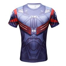 Men's short-sleeved  3D  Superhero T-shirt male