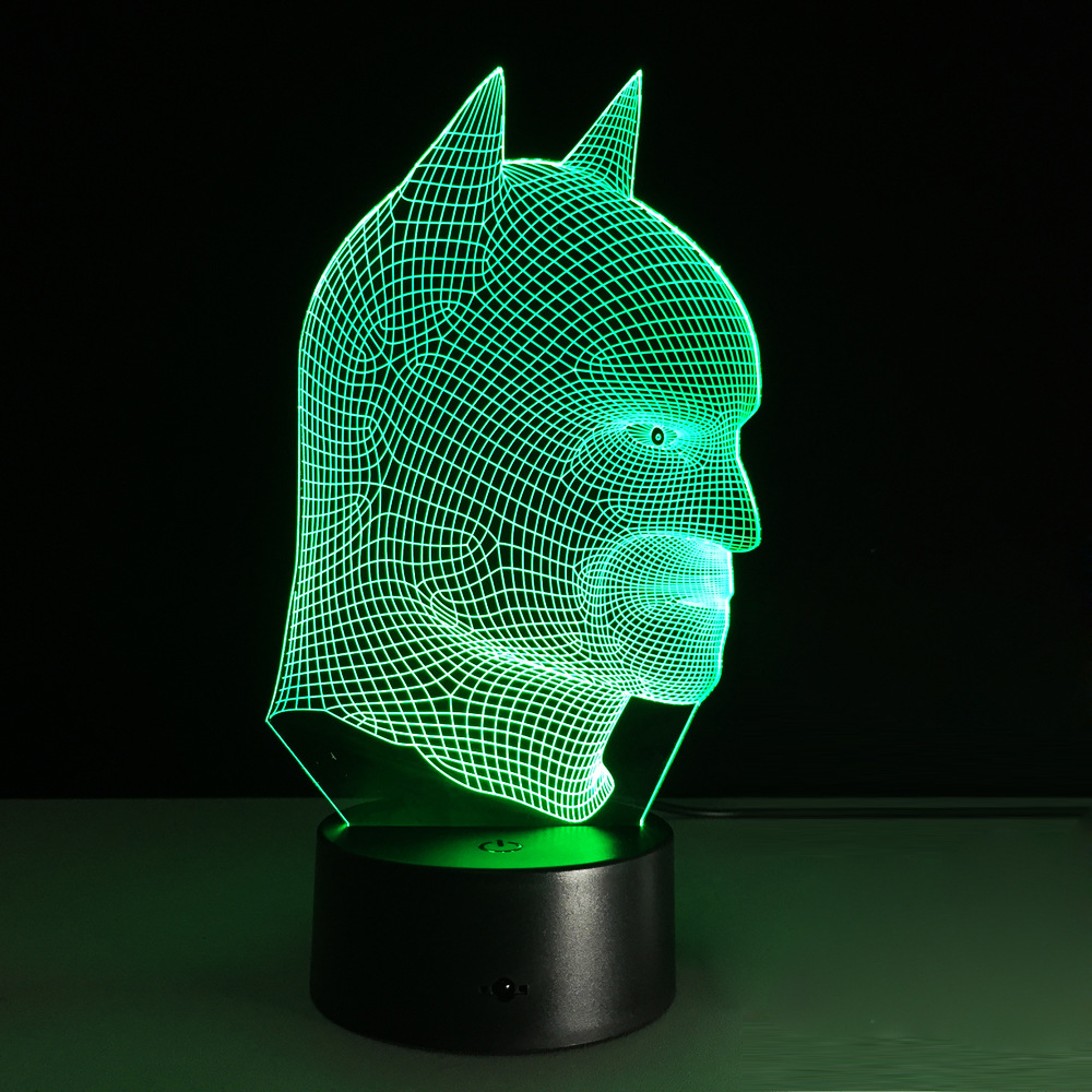7 Color 3d Illusion Led Batman Lamp Free Shipping Worldwide