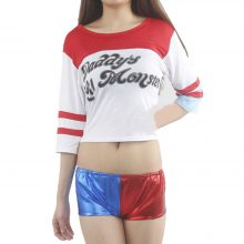 Harley Quinn top & shorts