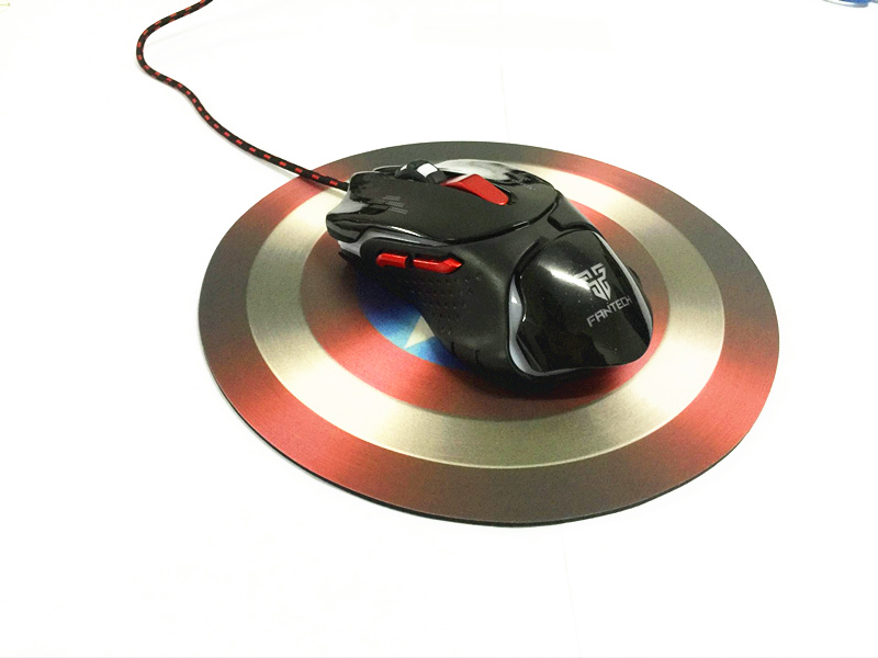 Captain America Shield Style Mouse Pad