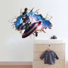 Captain America 3D  Wall Sticker