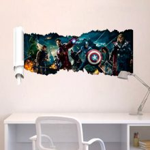 Avengers and Captain America 3D wall sticker