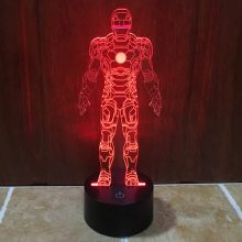 Marvel heroes 3D LED lamp
